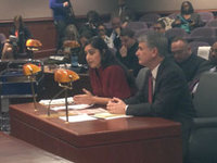 Shital Shah, Asst. Dir. of Ed Issues for AFT, and Sen. Don Williams advocate for community schools